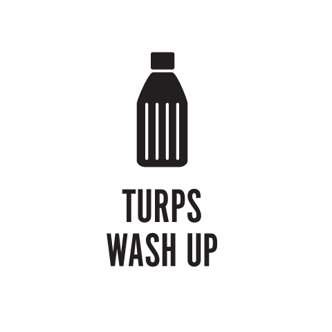 Turps Wash Up